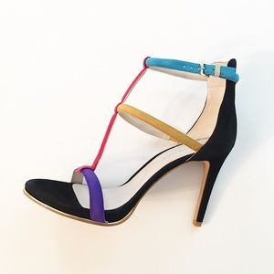 Kenneth Cole Ankle Strap Heels Sz 8.5 M Colourful